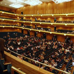 The audience takes their seats after intermission during a Salute to Youth concert at Abravanel Hall on Sept. 27, 2011.