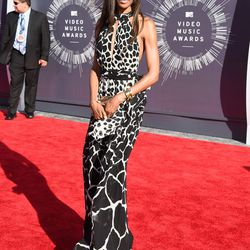 Michelle Williams went with black and white giraffe.