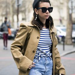 The Parisian way to wear stripes.