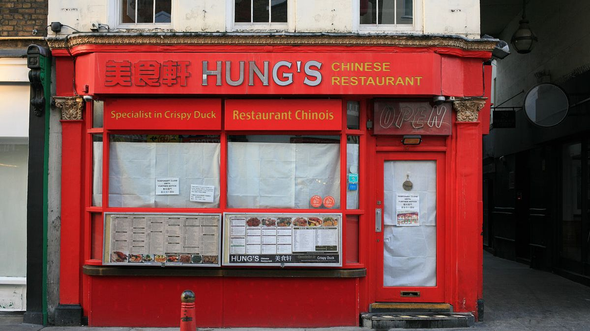 Roast meats restaurant, Hung's permanently closed last year during the coronavirus pandemic, which during lockdowns has affected London's Chinatown restaurants