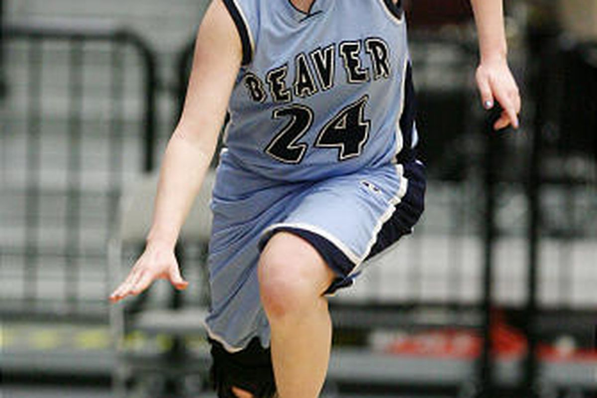 Beaver's Brittany Griffiths (24) during the 2A girls basketball state championship between Enterprise and Beatver in Richfield, Utah February 27, 2010.  Beaver went on to win 37-32.  Keith Johnson, Deseret News