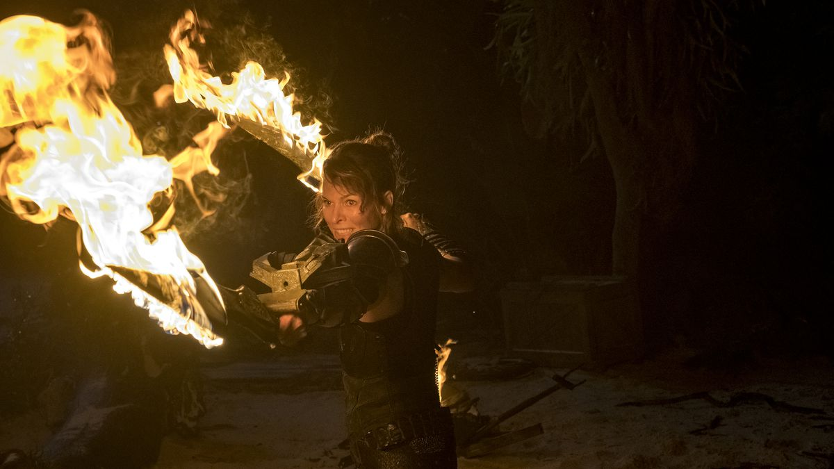 Milla Jovovich brandishes flaming swords in Monster Hunter