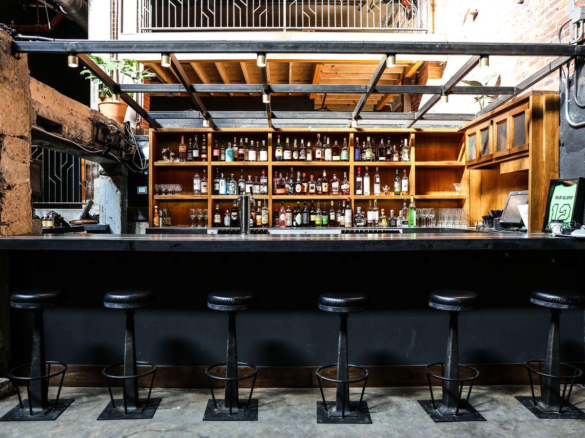 The main bar at Old Glory.