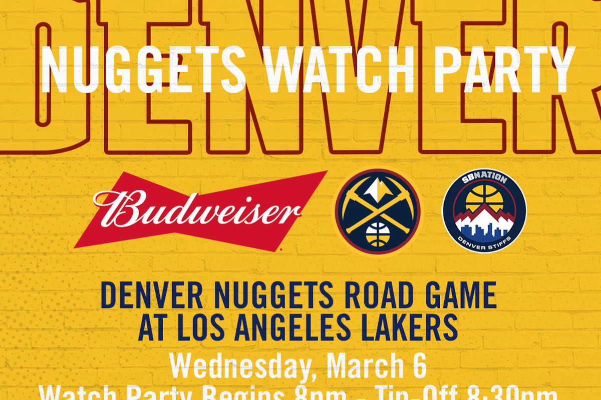 the latest 135e8 be724 Come join us at our next Denver Nuggets watch party as the ...