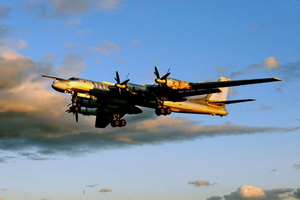 The Russian Tu-95 long-range bomber, one of the aircraft types that has flow in or near NATO airspace in recent months, viewed by Western governments as a dangerous provocation (Wojtek Laski/Getty)