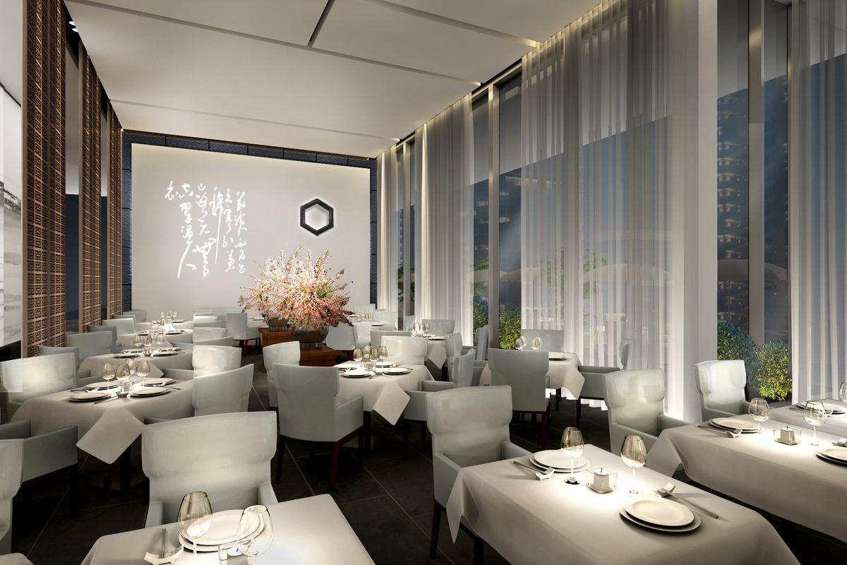 DaDong's third floor dining room