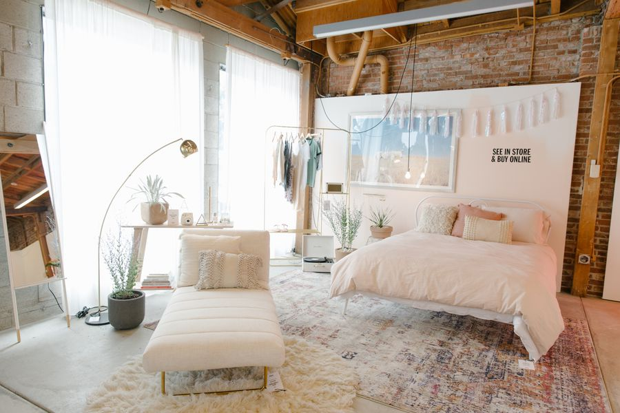 urban outfitters s first home showroom is a magical place. Black Bedroom Furniture Sets. Home Design Ideas