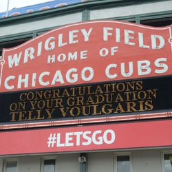 1:56 p.m. Personalized message on the marquee -