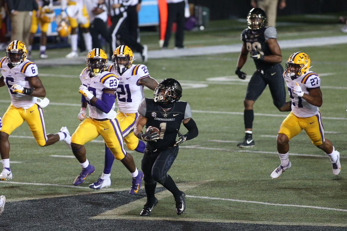 COLLEGE FOOTBALL: OCT 03 LSU at Vanderbilt