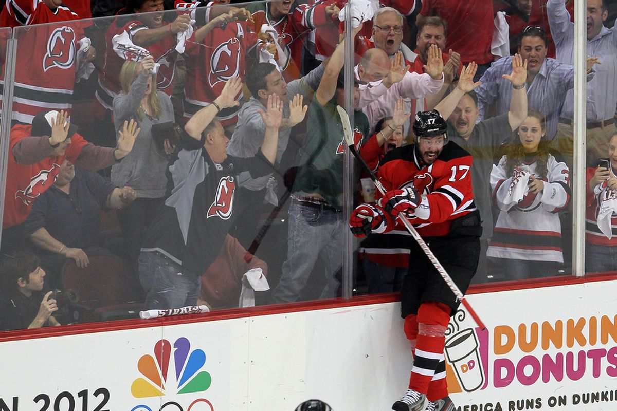 When you score, you can do what you want, like jump into the glass while smiling.