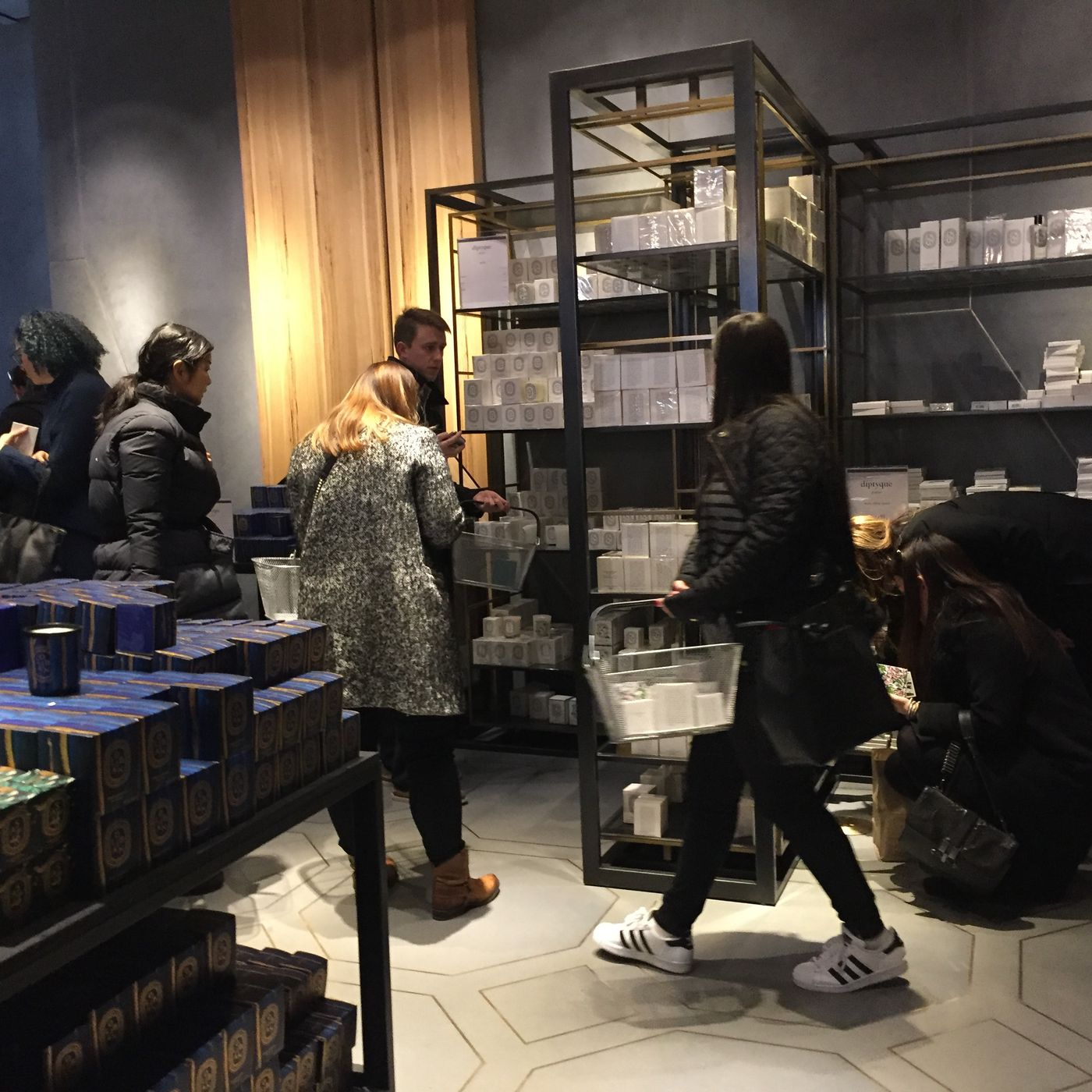 The Diptyque Sample Sale Preview's Weirdest Moments   Racked NY