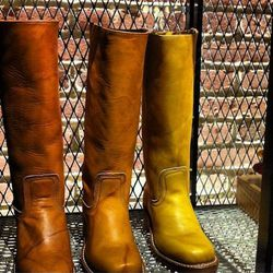 A squared-off, '60s-style toe graces the Campus boots, which Petry says were everywhere at Woodstock.