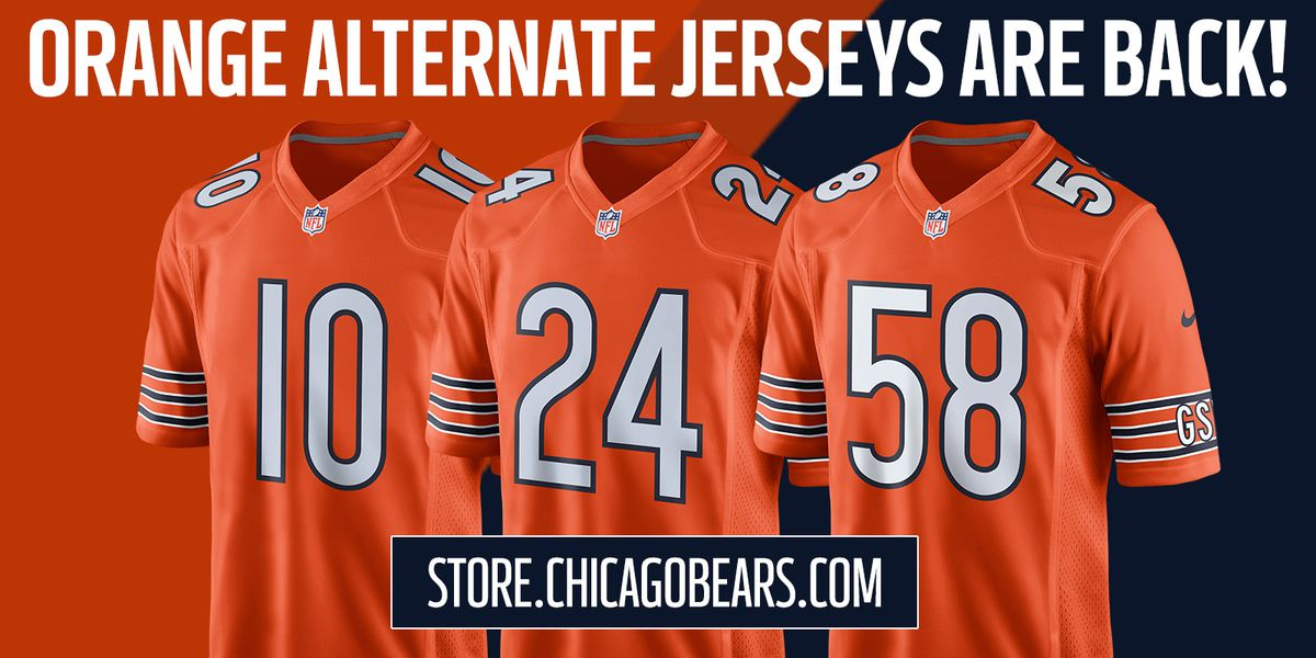 f6f2aa22e44 Chicago Bears release new orange jerseys for 2018 season - Windy ...