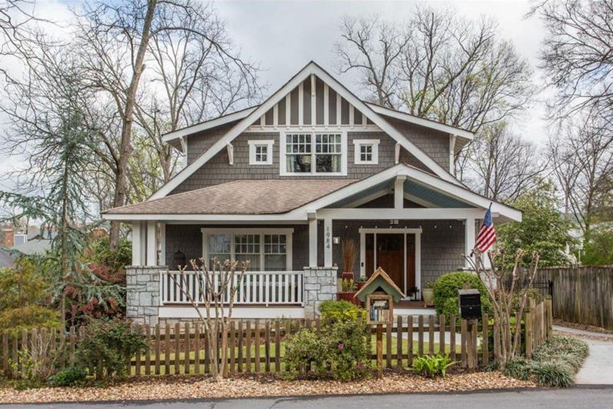 A 2008 craftsman-style house in Kirkwood Atlanta