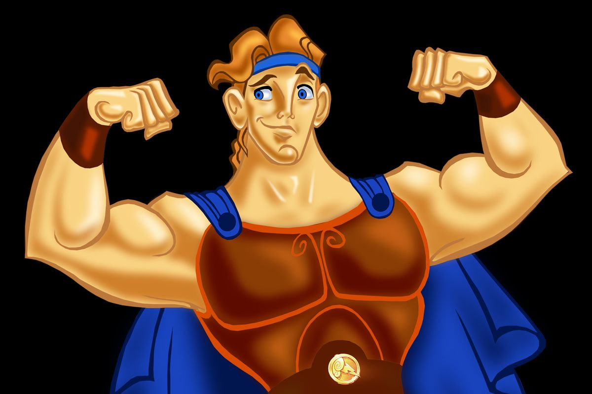 Hercules: you never knew he was strong until you saw his super-ripped armor.