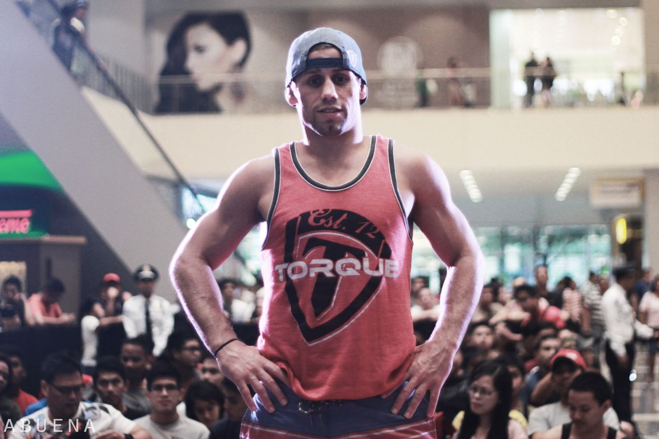 Urijah Faber during a 2014 open workout in Manila