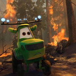 "The team in Disney's ""Planes: Fire & Rescue"" battles a massive wildfire."