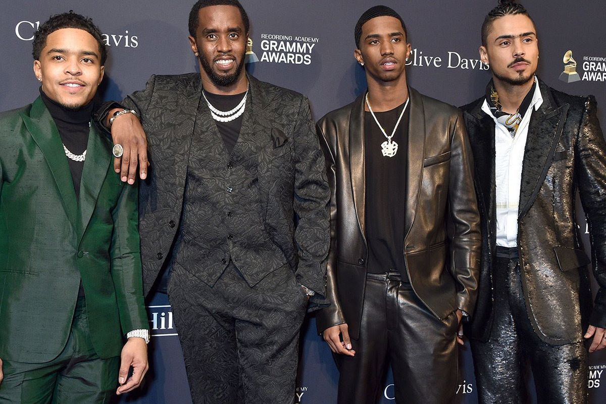 Diddy, Christian Combs, Justin Combs, Quincy Brown