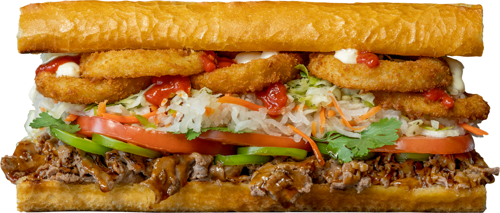 The Fat Banh Mi-ki sandwich from Fat Sal's restaurant in Los Angeles.