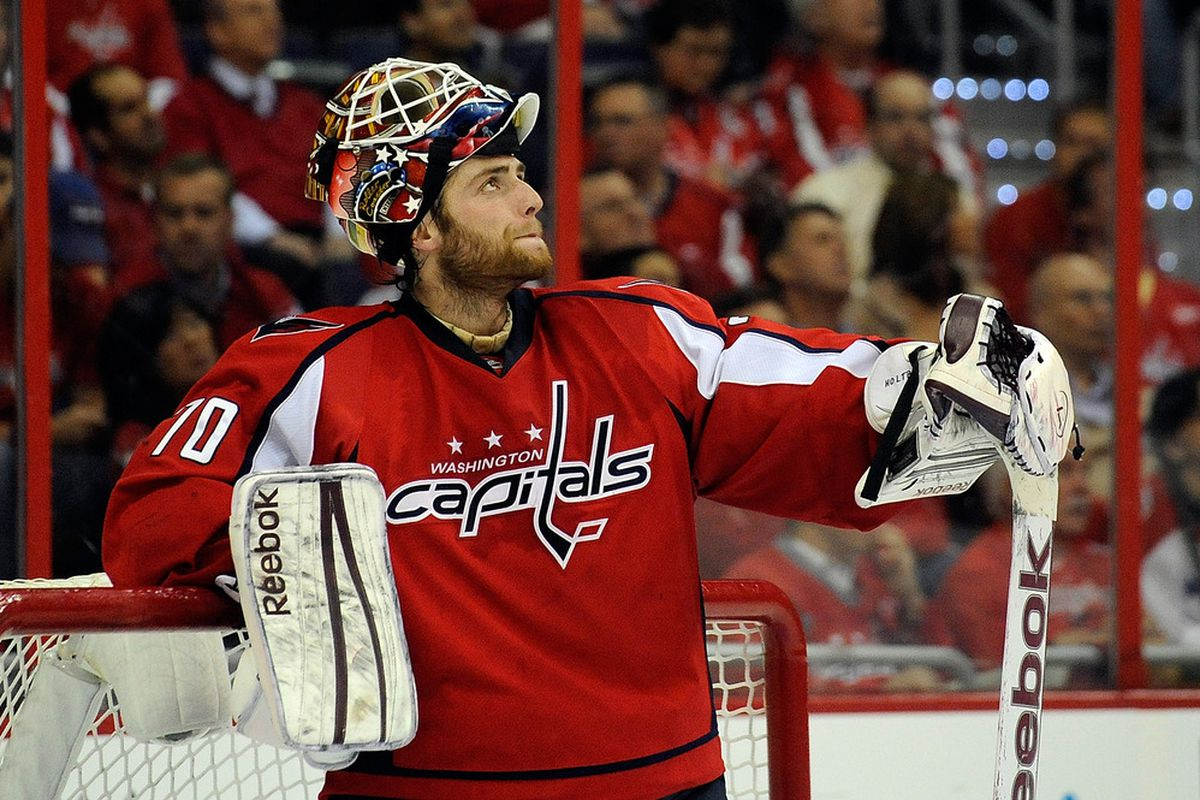 2012 Nhl Playoffs Braden Holtby And Dale Hunter Have The Capitals On The Shore Of Uncharted Waters Sb Nation Dc
