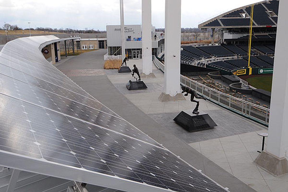 Kauffman Stadium's new solar panels