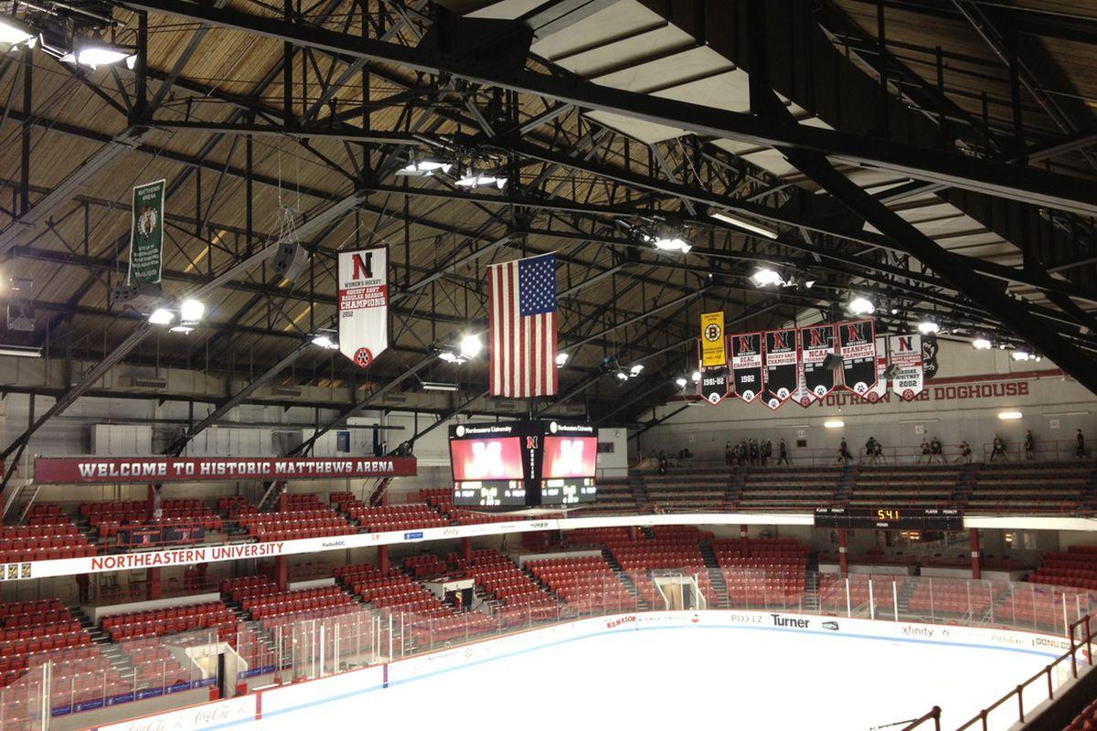 Northeastern's home rink Matthews Arena