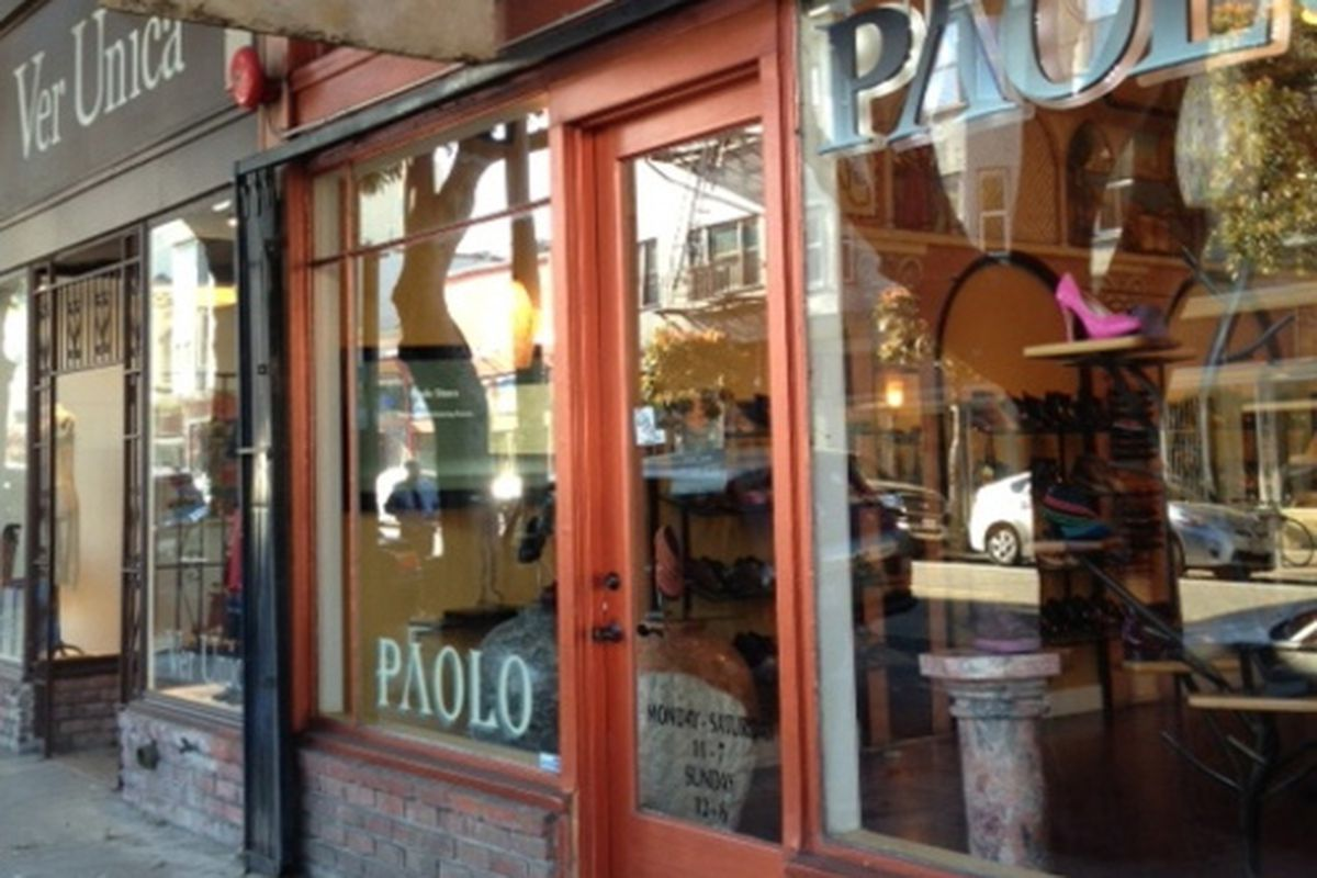 """Thanks to the formula retail law, only smaller shops, like <a href=""""http://www.paoloshoes.com"""">Paolo</a>, can set up in Hayes Valley."""