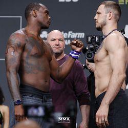 OSP and Nikita Krylov at UFC 236 weigh-ins.
