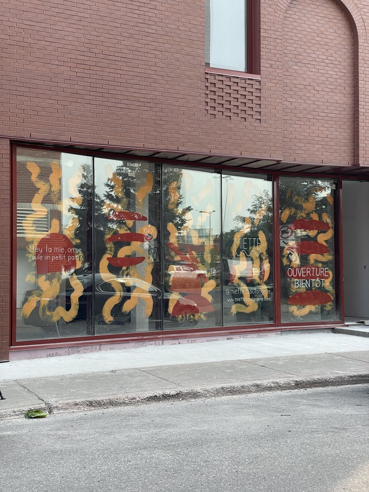 storefront in red-brick building