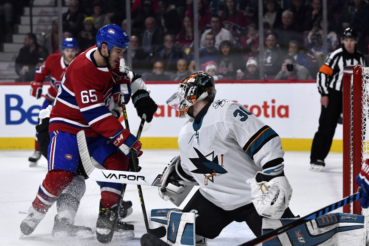 half off b3ddb 6a28d San Jose Sharks at Montreal Canadiens Preview: Sharks look ...