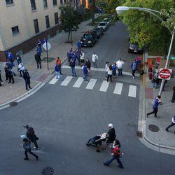 Ballhawk corner, during San Francisco's batting practice
