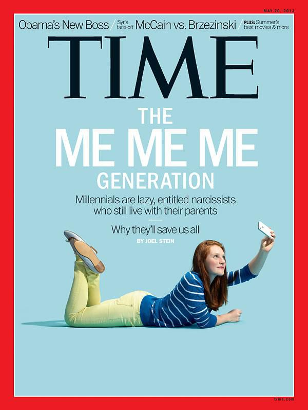 Time's depiction of millennials.