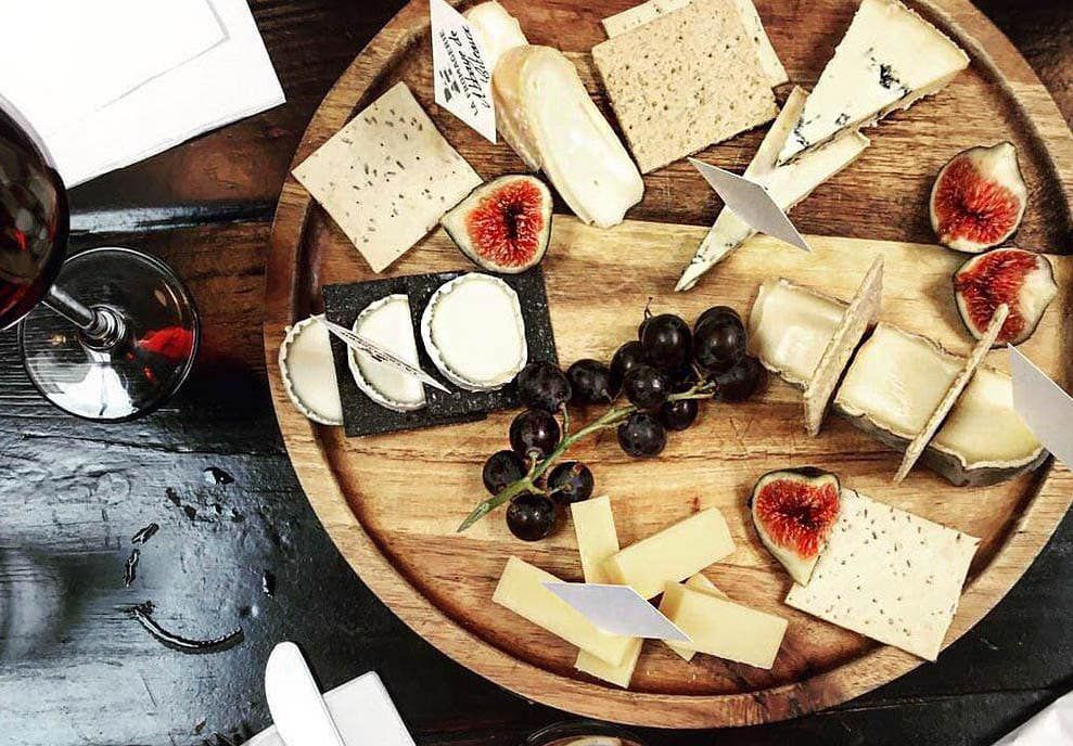 Cheeseboard at La Fromagerie, one of the best places to eat cheese in London