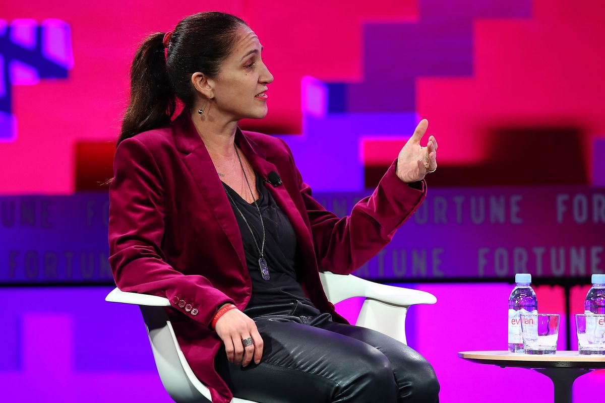 Liza Landsman speaks onstage during the Fortune Most Powerful Women Next Gen conference on November 14, 2017.