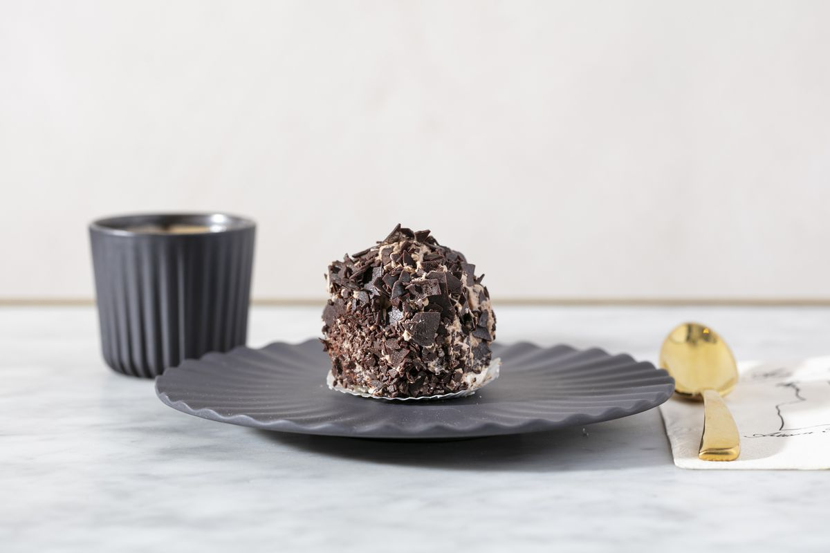 Merveilleux with chocolate.