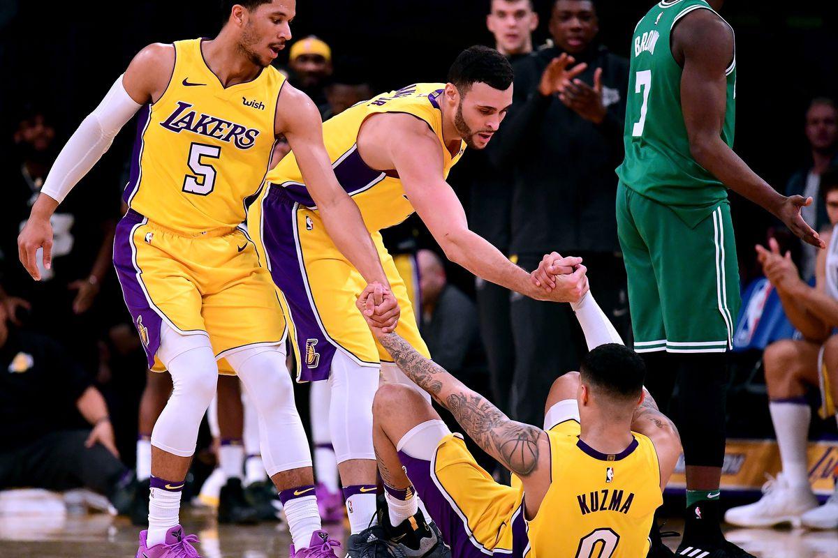 eab68d2f4 Lakers guard Josh Hart calls fellow rookie Kyle Kuzma  ugly as hell ...