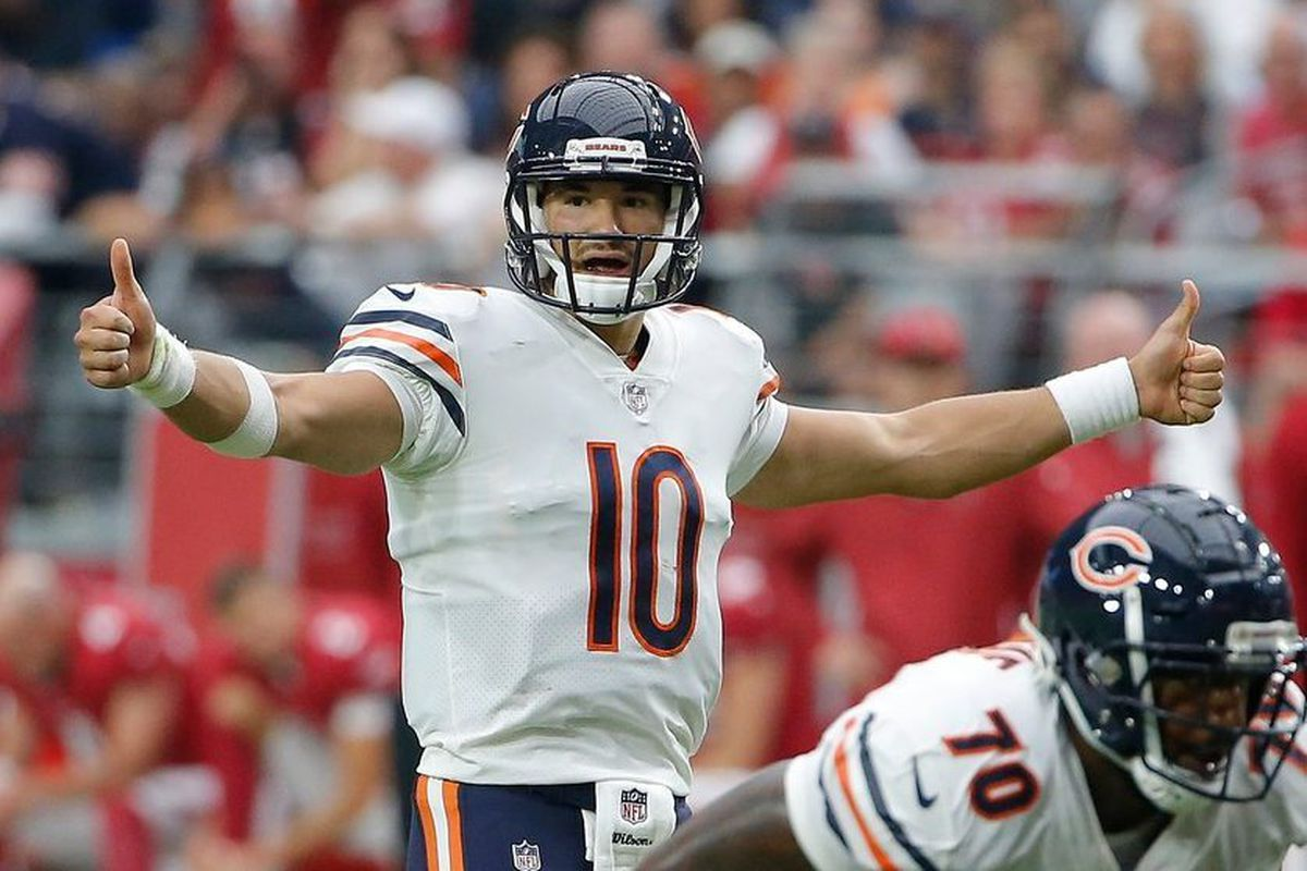 357af0d73 Bears QB Mitch Trubisky had a 73.5 passer rating against the Cardinals.