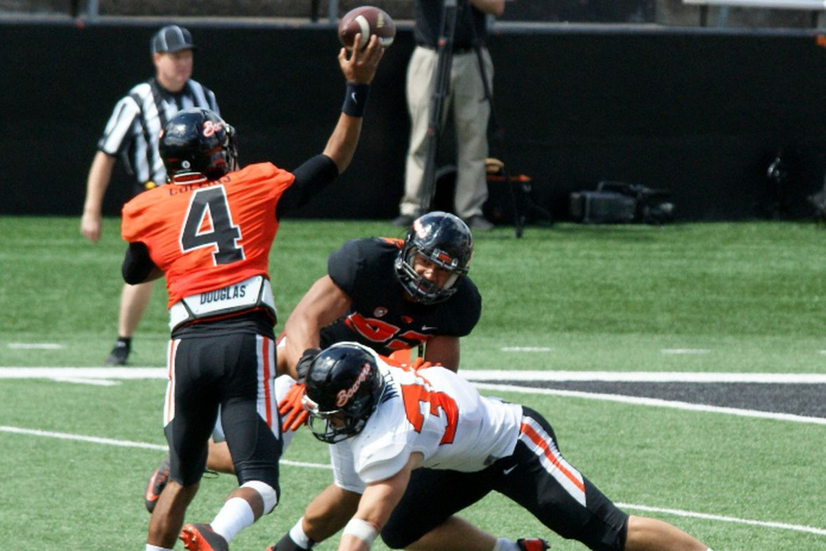 Oregon St. practiced twice today, working to overcome their 100% lack of experience at the quarterback position.