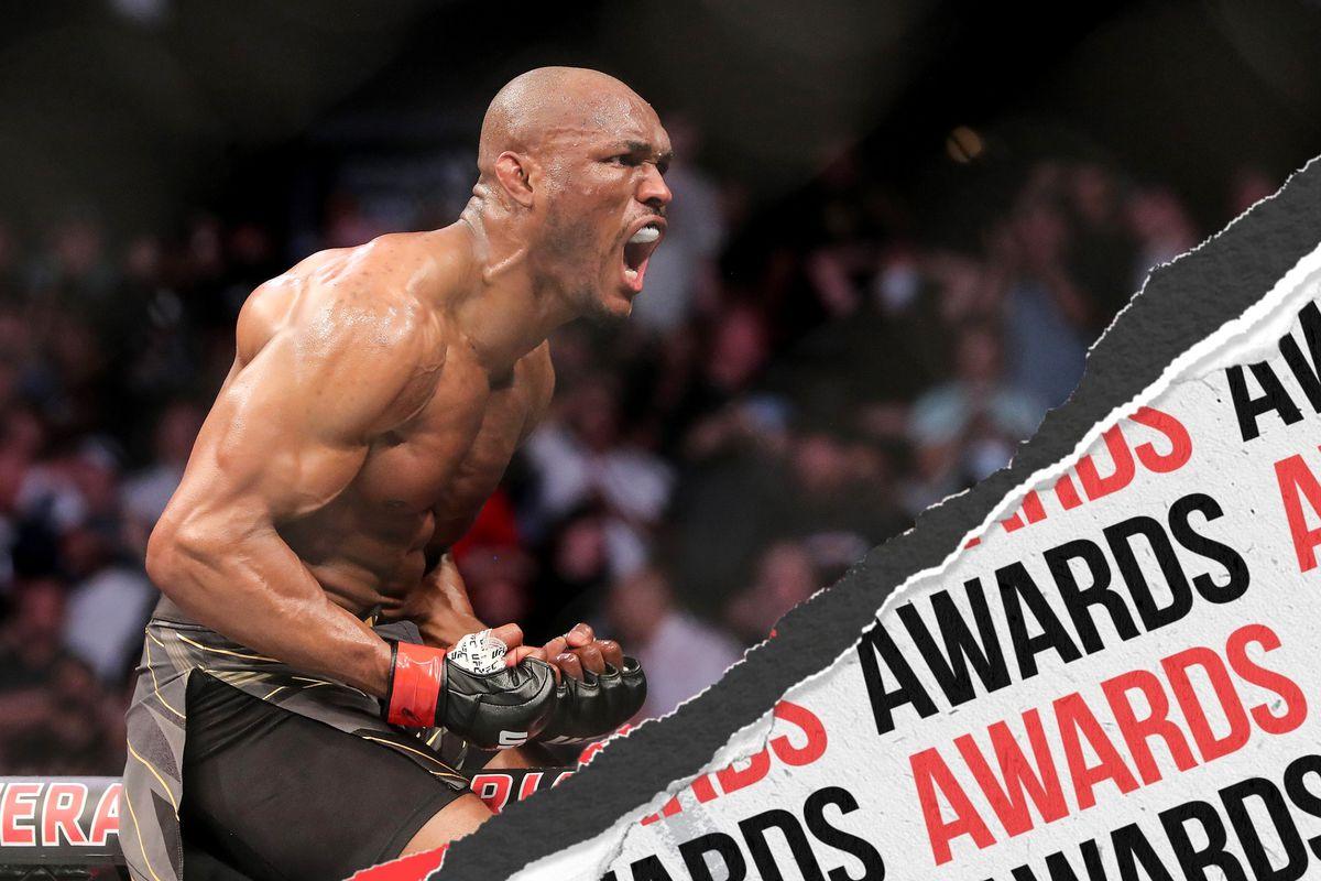 Kamaru Usman following his victory over Jorge Masvidal at UFC 261
