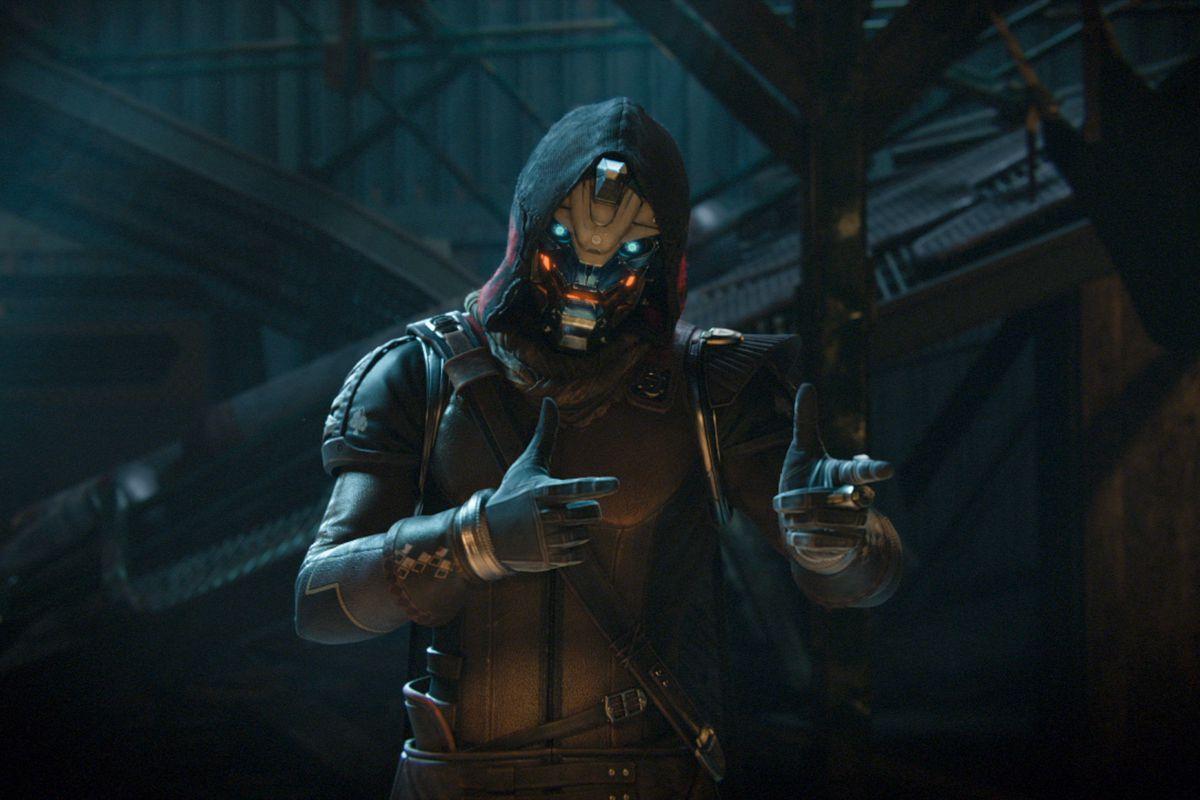 Destiny 2 - Cayde-6 giving fingerguns in a cutscene