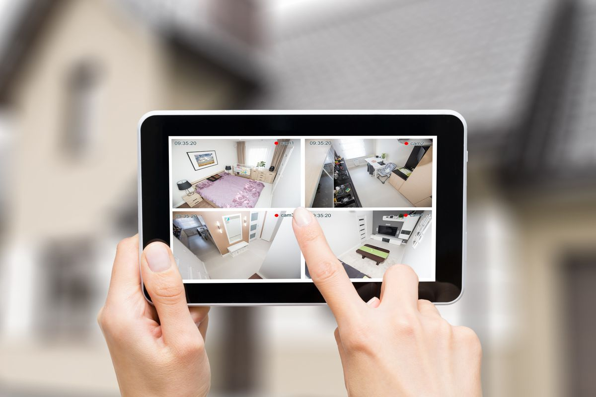 Wireless security system featured on handheld device