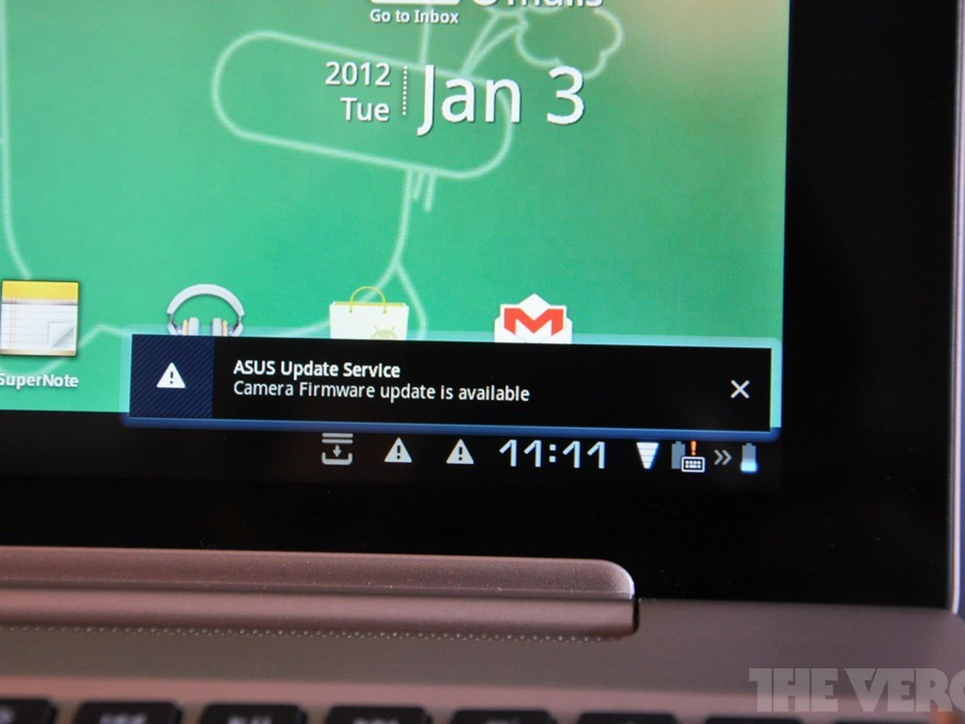 Asus transformer prime receives minor update to 8. 8. 3. 33, camera.
