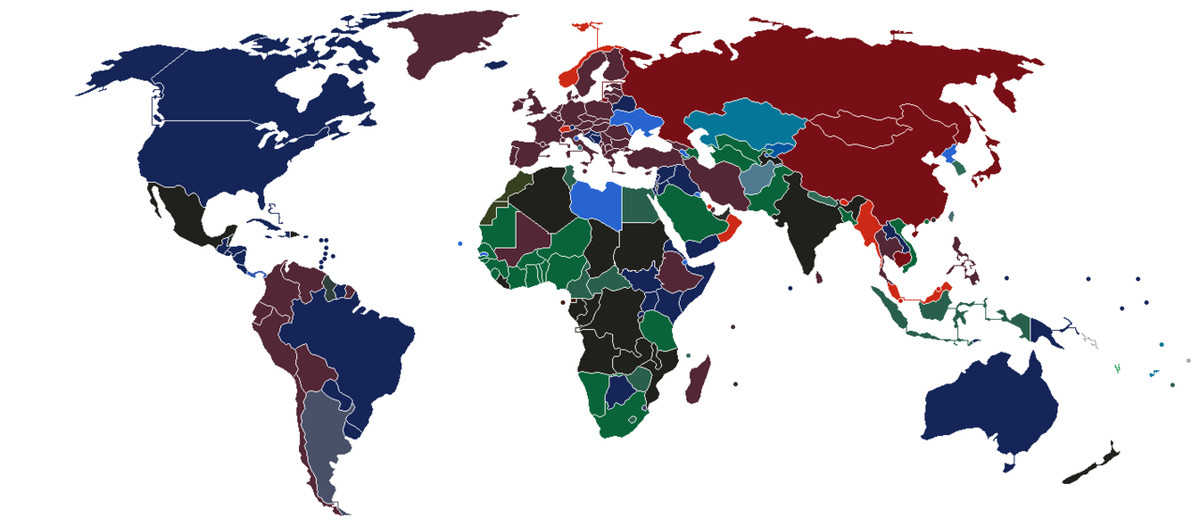The color of every countrys passport in one map vox passport colors gumiabroncs Images
