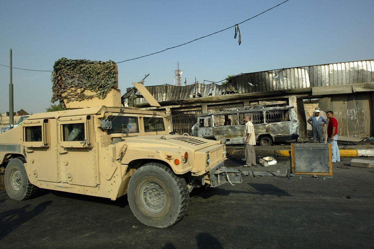 An American humvee in Baghdad, 2007