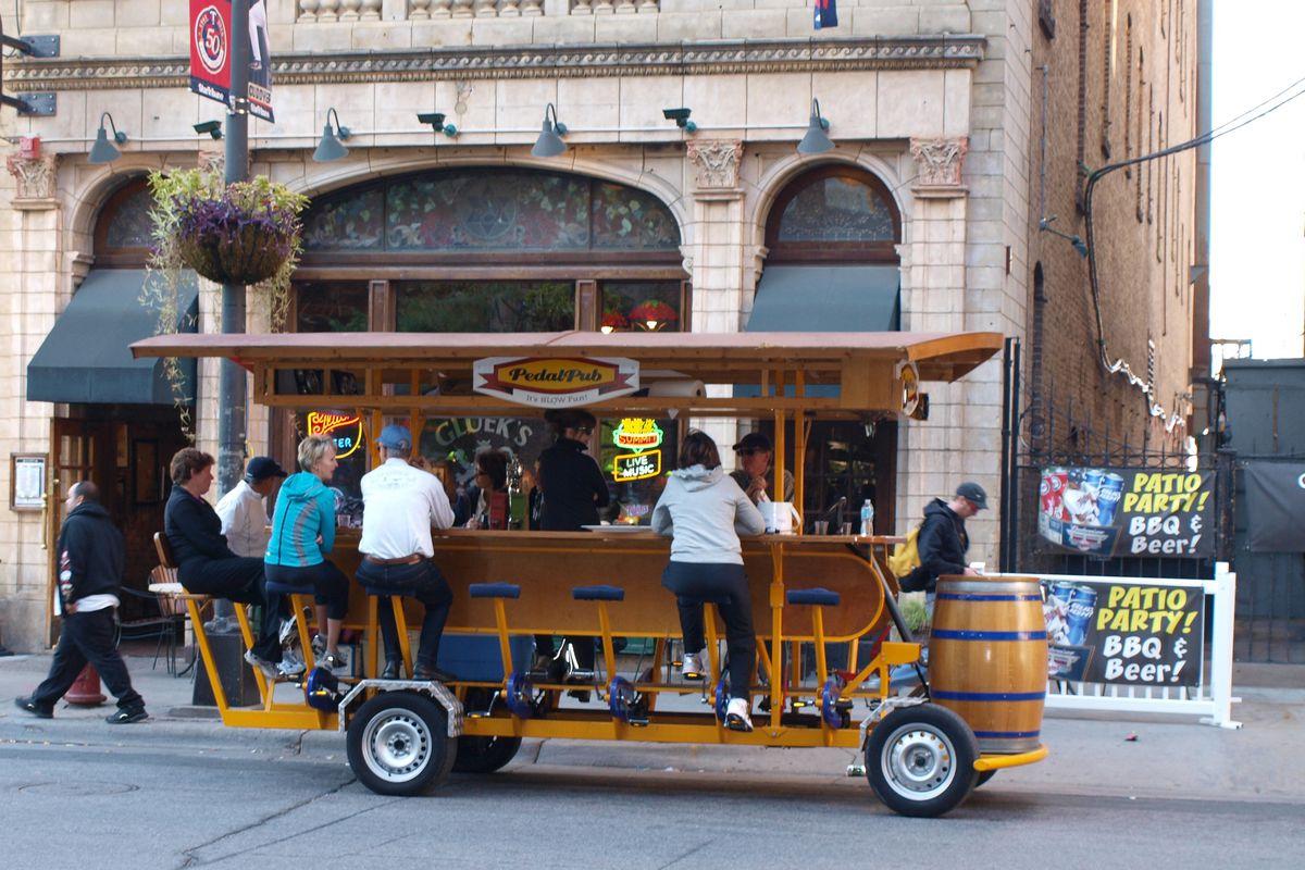 A pedal pub in Minneapolis.