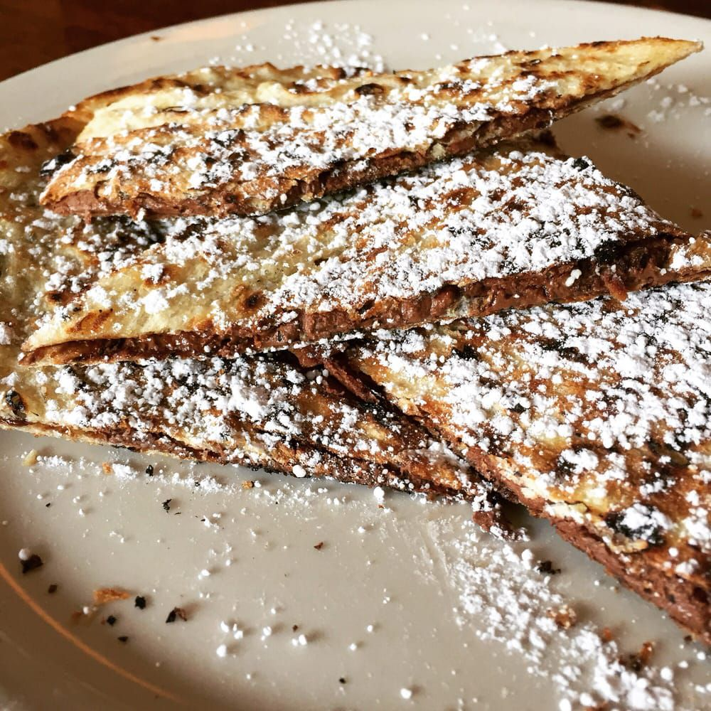 Grilled Nutella pizza at Coals