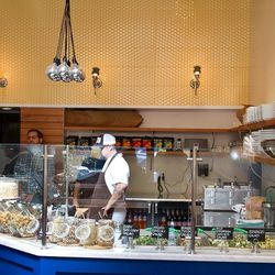 The salad bar is at the heart of the operation.