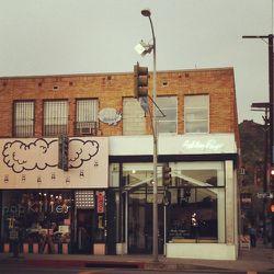 Paige's store sits next to Japanese vintage boutique, Popkiller.