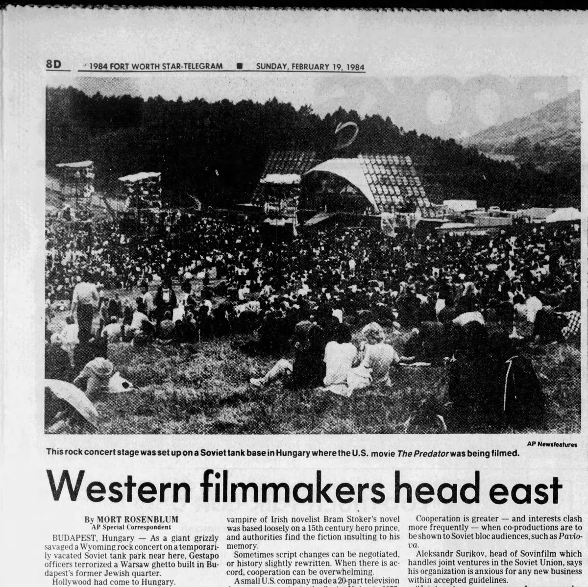 What Do George Clooney, Nazareth, and a 16-Foot Mechanical Bear Have in Common? Fort_Worth_Star_Telegram_Sun__Feb_19__1984___1_