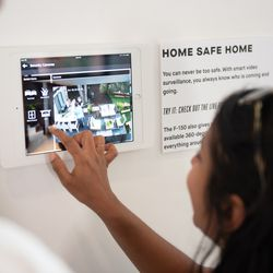 Guests gain first hand experience with the Home of the Future's innovative technology.